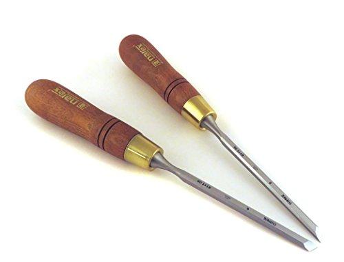 Narex Right & Left 6 mm 1 4  Skew Paring Chisels 811106 811156