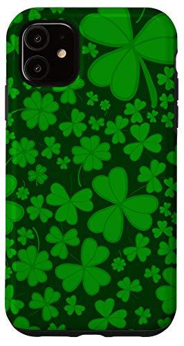 iPhone 11 Irish Green Shamrock for ireland fan Case
