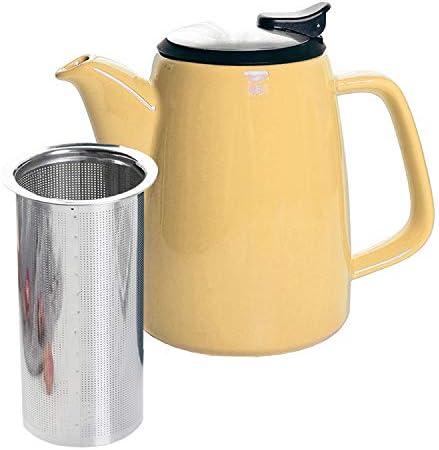 GRACIRI Porcelain Teapots with Infuser Lids Vintage Teapot Ceramic Tea Pot Large for Kitchen product image