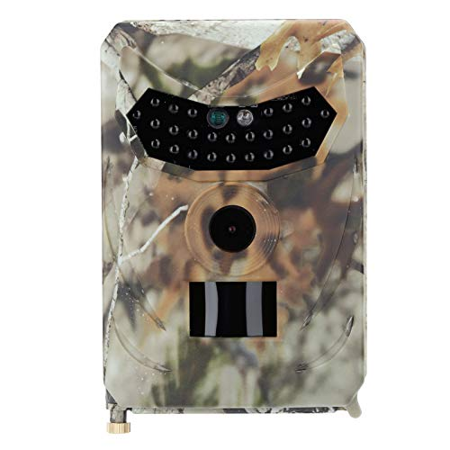 Germerse Cámara de Caza al Aire Libre de Camuflaje de 12 MP Lente Gran Angular de 120 Grados Dispositivo de Seguimiento de Vida Silvestre Cámara de visión Nocturna Observación de Vida Silvestre