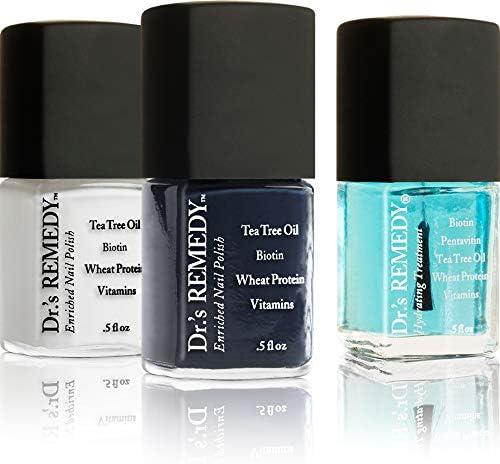Dr s Remedy Non Toxic Organic Natural Nail Polish Toenail Fungus Treatment 3 Piece Sets Defeat product image