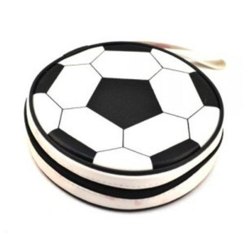 Cute Design Football, Watermelon, Baskeball, Tire and Hamburger Shape CD Storage Case Bag (Football)