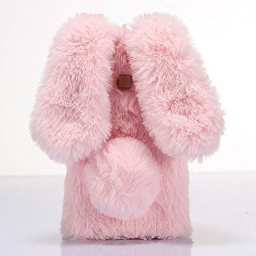 ZYQ 3D Rabbit Style Funda Caso TPU Silicona Case para ZTE Blade V9 Vita Gel Shell Carcasa Protecci¨®n Cover Etui Rosado