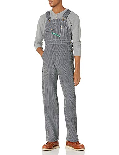 Key Apparel Men's Hickory Stripe High Back Bib Overall, 54W x 30L