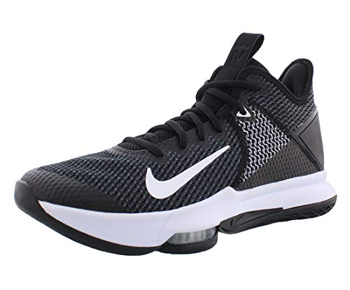 Nike Lebron Witness IV, Scarpe da Basket Uomo, Nero (Black/Black/White/Photo Blue 001), 42 EU