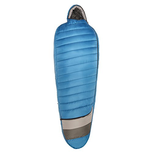 Kelty Tuck 40 Degree Thermapro Ultra LH Sleeping Bag, Lyons Blue/Smoke, Long