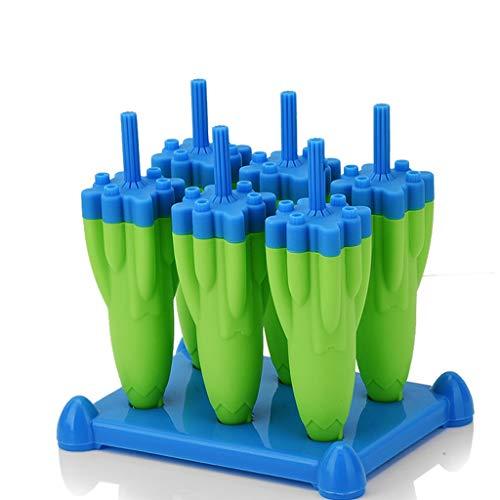 EIS am Stiel Schimmel 6er Pack kreative Rakete EIS Schimmel hausgemachte DIY EIS am Stiel Eiswürfel Haushalt Eisbox (Color : Green)