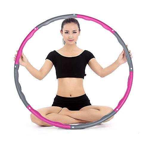 HANFEI Abnehmbar Massage Hula Hoop Multifunktionaler Kunststoff-Hula-Hoop Für Frauen Dünne Taille, Um Gewicht Und Hüften Zu Verlieren, Geeignet Für Alle Arten Von Menschen (4,8 Knoten)