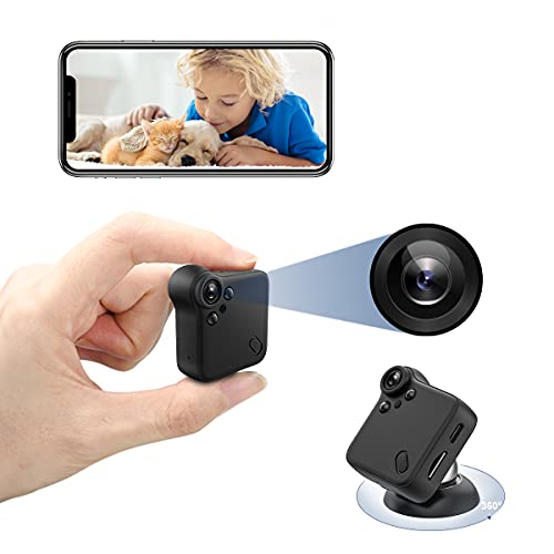 ZumYu Spy Camera with Audio and Video Wireless Hidden WiFi Mini Camera for Spying Home Security Cameras Covert Nanny Cam with Live Feed Phone APP Night Vision Motion Activated Real Time video Recorder