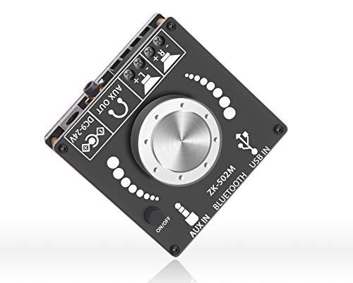 DAMGOO Mini Bluetooth Amplifier 50W+50W Dual Channel Power Output, Bluetooth+ AUX+ USB Input