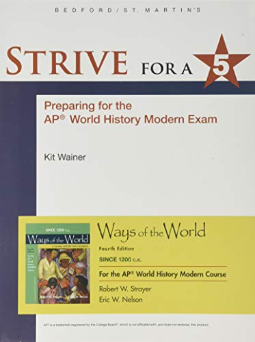 1200 Update Strive for a 5 for Ways of the World with Sources for the AP Modern Course