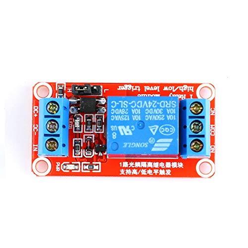 Xyhcs. 1-Kanal-5V 12V 24V-Relais-Modul-Brett-Schild for Arduino mit Optokoppler Unterstützung High und Low-Level-Trigger (Size : 1 Channe 24v)