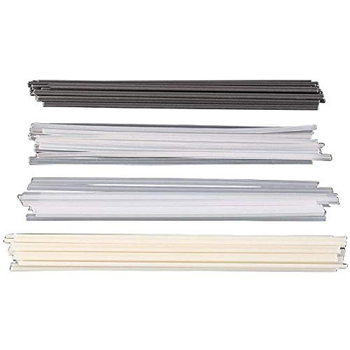 KUNSE 50Pcs Kunststoff-Schweißstäbe ABS/PP/PVC/PE-Schweiß Stöcke 200mm Für Kunststoff-Schweißen