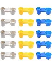 YARNOW 15 Piezas Bebedero Automático de Pájaros Tazas Bebedero de Pájaros Taza de Plástico Soda Pop Botella de Agua para Palomas Pollo Loro