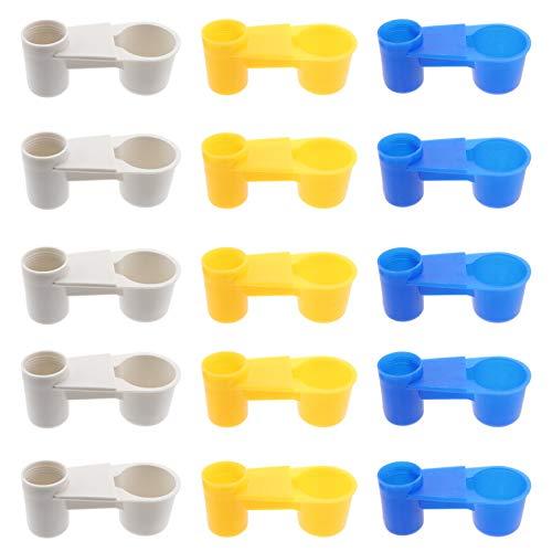 YARNOW 15 Stück Automatische Vogeltrinker Tassen Vogeltrinker Feeder Tasse Plastik Soda Pop Wasserflasche für Tauben Papagei Huhn
