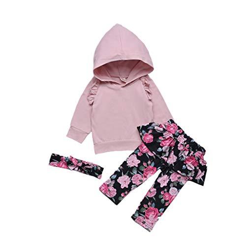 Mamum Baby Boys Tops Solides + Salopettes Cartoon Dinosaur Pantalon Vêtements Nouveau-né Bébé Filles Floral