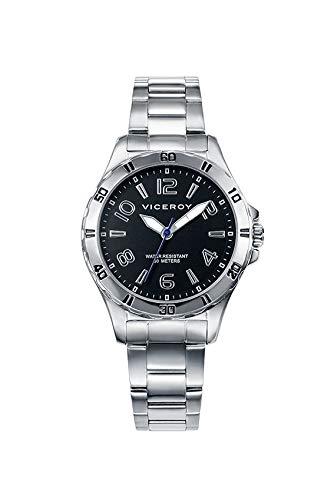 Viceroy Jungen Analog Quarz Uhr mit Edelstahl Armband 40977-55