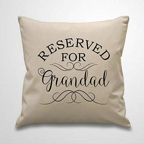 BYRON HOYLE RESERVED FOR GRANDAD Throw Pillow Cover Linen Square Pillow case Cushion Cover Pillowcase with Zipper Home Decor 18x18 inch