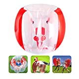 Bumper Balls Inflatable Bumper Bubble Soccer Balls for Kids/Teens/Adults Dia Giant Human Hamster Ball Body Zorb Ball Outdoor Team Gaming Play (1.2m/4FT Red)
