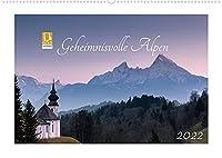 Geheimnisvolle Alpen (Wandkalender 2022 DIN A2 quer): Atemberaubende Fotos von Berggipfeln und Bergseen (Monatskalender, 14 Seiten )