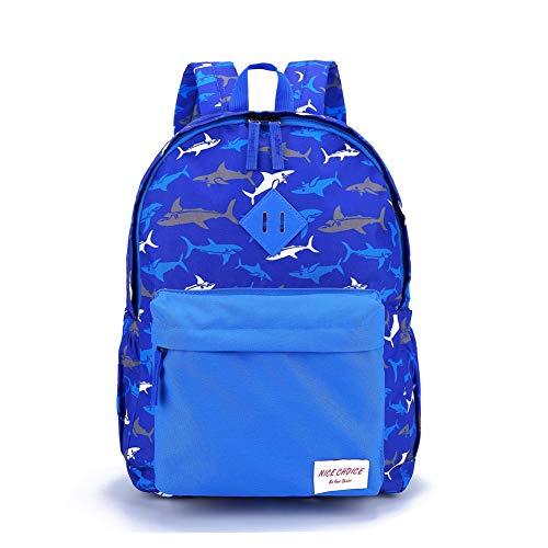 Preschool Backpack Little Kid Toddler Kindergarten School Backpacks for Boys and Girls with Chest Strap (Shark)