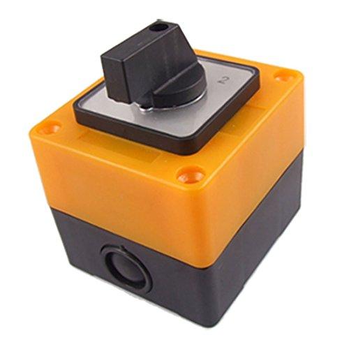 Interruptor - TOOGOO(R)Interruptor conmutador 3 posiciones rotativo LW28-20/3 500V 20A Negro + Amarillo