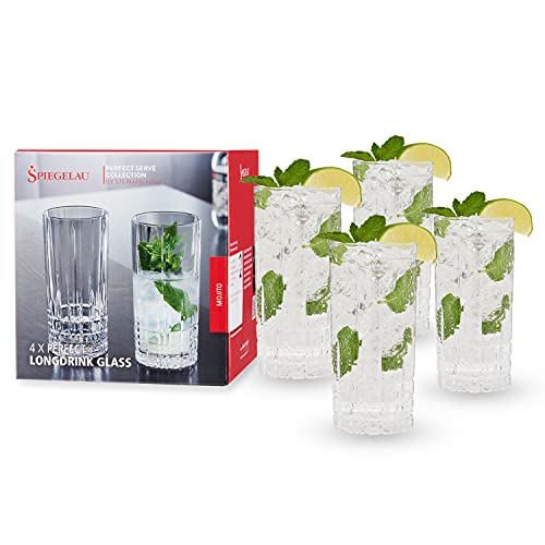 Spiegelau & Notte Uomo, 4Set di londrink Set di Bicchieri, Bicchiere di Cristallo, 350ML, Perfect Serve, 4500179
