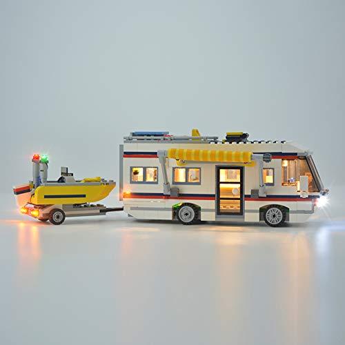HLEZ USB Juego de Luces de para Las escapadas de Vacaciones Modelo de Bloques de Construcción, Kit de Luces Compatible con Lego 31052 (Modelo Lego no Incluido)