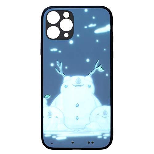 Leeofty Funda para teléfono con iluminación Bulit en 500mAh Batería Recargable Ultrafina táctil / Control de Sonido Fuerte Reemplazo de la Cubierta del teléfono móvil con luz para i-Phone 11 Pro