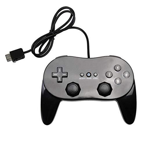 Nosii Classic Game Controller con Gamepad Joypad per Console Nin-tend Wii (Color : Black)