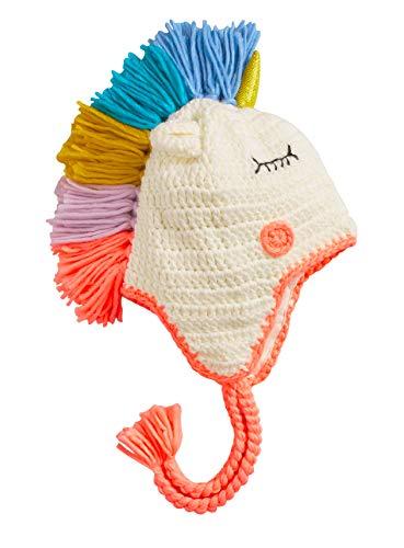 Sombreros de Unicornios de Punto para niños y niñas, Sombrero Lindo cálido de Invierno para niños de Dibujos Animados (Colorful-L)