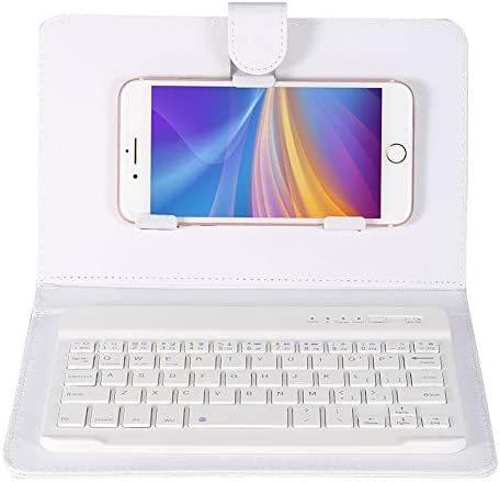 fosa Wireless Bluetooth Keyboard with Portfolio Flip Leather Case Cover Detachable Keyboard product image