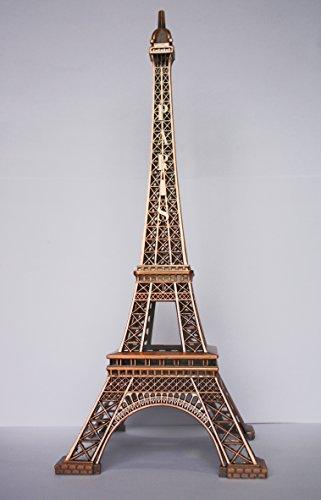 Torre Eiffel in metallo, 32 cm, colore: rame