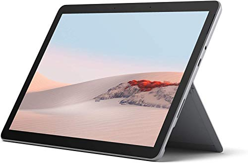 Microsoft Surface GO 2 Tablet, 10.5'', 4 GB RAM, 64 GB SSD, Dual-Core Intel Pentium Gold 4425Y, Windows 10 Home, Platino