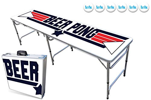 Learn More About PartyPongTables.com 8-Foot Beer Pong Table - Top Pong