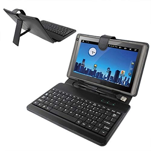 LICHONGGUI Funda de Cuero Universal para Tablet PC de 10 Pulgadas con Teclado plástico USB