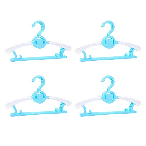 POHOVE 20 grucce per bambini regolabili per bambini, allungabili, design a orso, antiscivolo, per neonati, 20 pezzi, colore: blu lago