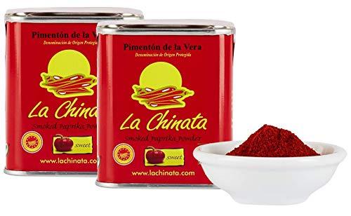 La Chinata - süßes, geräuchertes Paprikapulver, 2er Pack (2 x 70 g) - Pimentón de la Vera