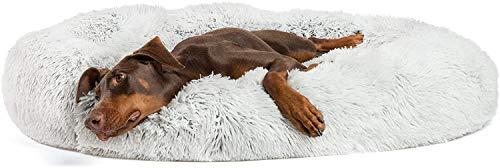 MTHDD Cama calmante para Perros y Gatos, Redonda, Ovalada, con cojín Suave en la Parte Inferior, Alivio ortopédico Mejorado, Saco de Dormir para Mascotas, sofá para Cachorros Suave,B2,70CM