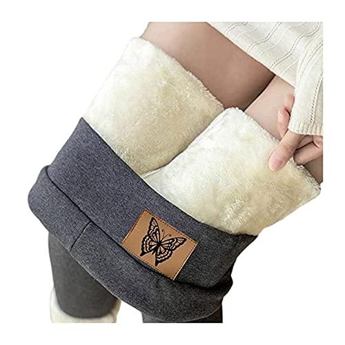 Yokbeer Leggings para Mujer Leggins Térmicos con Forro sin Costuras con Forro Polar Interior Leggings Térmicos de Cintura Alta Medias Cálidas de Invierno Pantalones Elásticos Leggins Deportivos Pantal