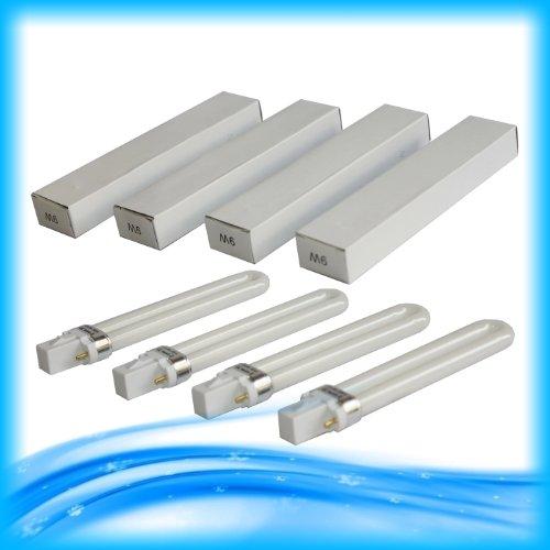 4x Bombillas para lámparas UV 9W para manicura (Gel–Tratamiento y secado UV
