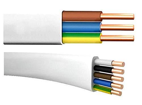 Flach Feuchtraumkabel Leitung YDY NYM-J 5x1,5 10m 1,55EUR/m