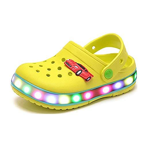 Unisex Bambino LED Sandali con Luci Estate Casual Ciabatte da Spiaggia All'aperto Antiscivolo Traspirante Sandali Sportivi Pantofole per Ragazze e Ragazzi