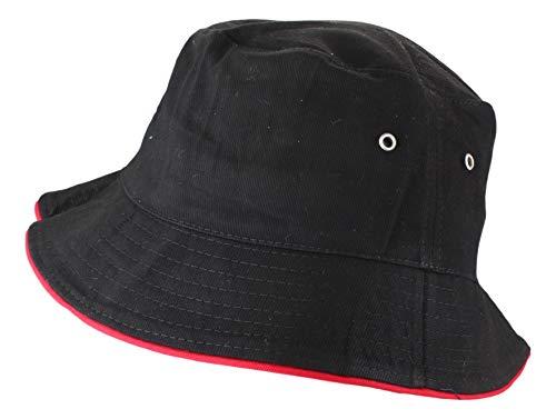 2Store24 2Store24 Fischerhut in black/red Größe L/XL