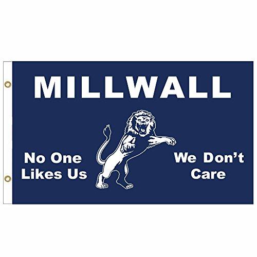 Millwall FC Crest Fußball Fahne Flagge Fahnengröße: 90cm x 150 cm