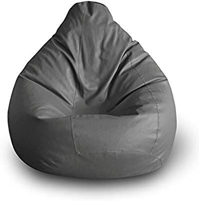 Style Homez Classic Bean Bag XXL Size Grey Cover Only