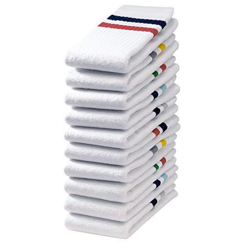 Lot de 10 Paires de Chaussettes de Sport TpoSportif Taille 43-46 Blanc