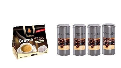Dallmayr Crema d'oro mild und fein Pads 116g + 4 Pad Dosen