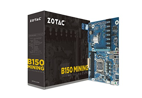 ZOTAC B150 Mining ATX Motherboard for Cryptocurrency Mining with 7 PCIe x1 Slots (B150ATX-A-E)