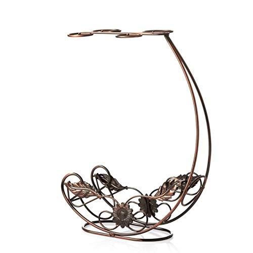 1 ST Hoge Kwaliteit Koper Wijnrek Opknoping Wijnglas Houder Bar Stand Beugel Display Stand Beugel Decoratie Gift, koperen Wijn Houder